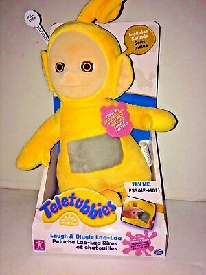 Teletubbies  Laugh & Giggle   Laa-Laa Soft Toy  Color Yellow New In Box.