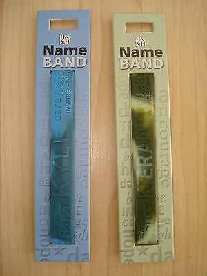 """History & Heraldry Rubber Personalised Wristband Boys Names Starting """"K"""" NEW"""