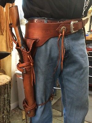 Leather Holster/ Scabbard Ranch Hand Mares Leg Holster Henry Rossi Western