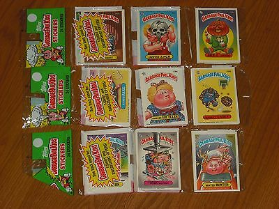 1986 Topps Garbage Pail Kids Rack Pack Lot of 3 Factory Sealed / Unopened Cello
