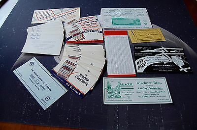 Vintage  Advertizing Blotters Lot -- Construction Trades And Suppliers
