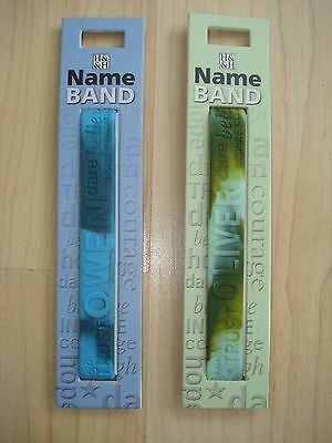 """History & Heraldry Rubber Personalised Wristband Boys Names Starting """"O"""" NEW"""