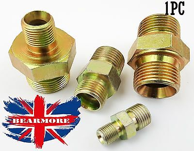 Brass / Bzp Steel Male Nipple Bush Hex Reducer / Connector. Air Water Joiner