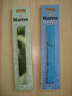 """History & Heraldry Rubber Personalised Wristband Boys Names Starting """"R"""" NEW"""