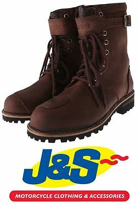 Spada Pilgrim Grande Wp Boots Waterproof Brown Motorcycle Boot Motorbike J&s