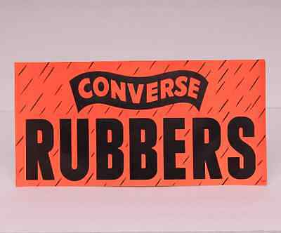 Vintage Converse Rubbers Shoe Store Table Display Advertising SIGN mens made in