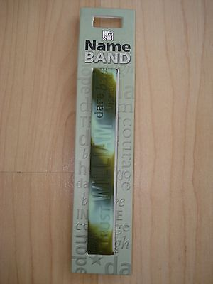 """History & Heraldry Rubber Personalised Wristband """"WILLIAM"""" NEW"""