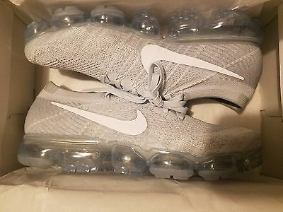 Nike Air VaporMax Flyknit Pure Platinum Wolf Grey 849558-004 SZ 7-12 LIMITED