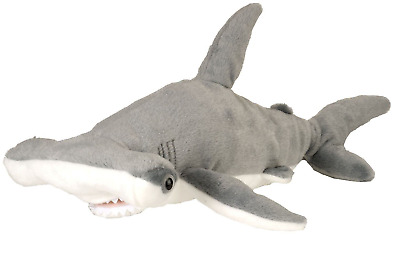 "Wild Republic Cuddlekins 15"" Hammerhead Shark Plush Soft Toy Cuddly Teddy 13238"