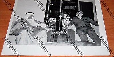 Iraq. Vintage photo of the embassador of Qatar in Baghdad, 1980s