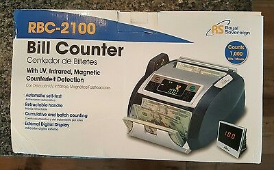 Royal Sovereign RBC2100 Bill Counter External Display UV Counterfeit Detector