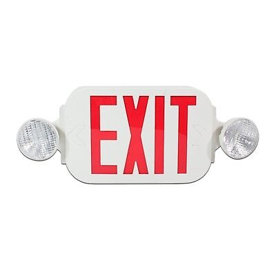 eTopLighting LED Red Exit Sign Emergency Light Combo with Battery Back Up UL9...