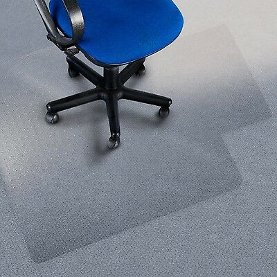 Office Marshal Polycarbonate Chair Mat with Lip for High Pile Carpet Floors 3...