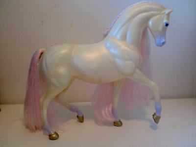 Vintage Barbie Fantasy Fairy Princess Pearl Horse Pony Pink Sparkle Hair 1991