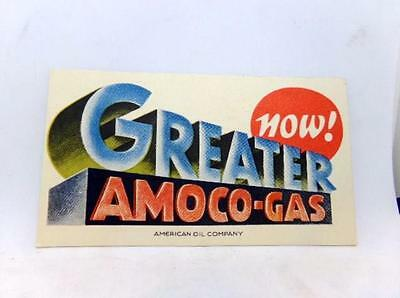 Vintage Advertising Ink Blotter NOW ! GREATER AMOCO-GAS American Oil