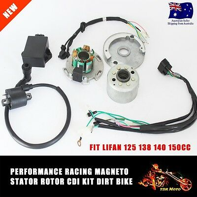 Complete Magneto Stator Performance CDI Box Ignition Coil For 150cc 125cc 140cc