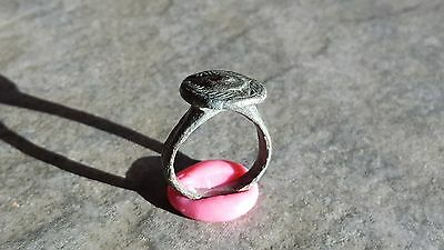 Ancient Roman Bronze RING (#4C) Large Crown Bezel, 19 mm, Wearable and Intact