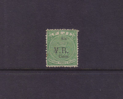 "Fiji Sg 17; 1874 6c on 3d Green ""VR"" Gothic Mint.cv £2000 **RARE**"