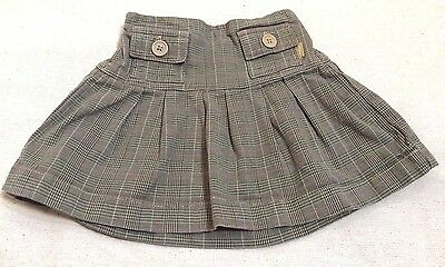 Gap Baby Girls Skirt Size 12 - 18 Months Plaid Brown  F6