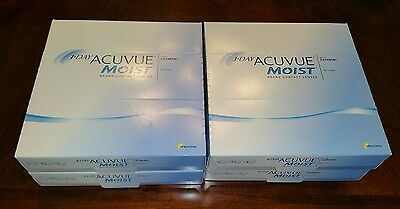 1 day acuvue moist -1.25, (4) boxes, 360 lenses total