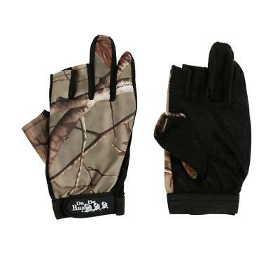 New Camo Fishing Gloves Shooting Hunting Folding Fingers 3 Low-cut Fingers
