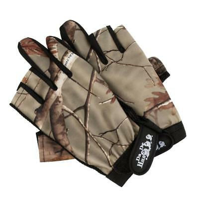 1 Pair Fingerless Fishing Gloves Cycling Gloves Adjustable 3 Fingers Low Cut