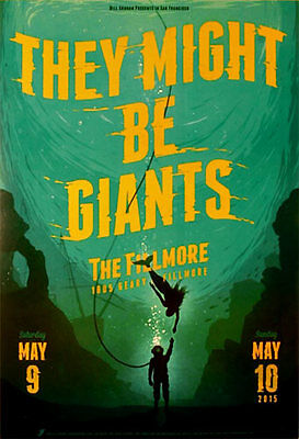They Might Be Giants 5/9/2015 Fillmore SF Concert Poster Matthew Fleming F1341