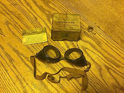 Vintage Duralite-50 Goggle In The Original Box With Paperwork