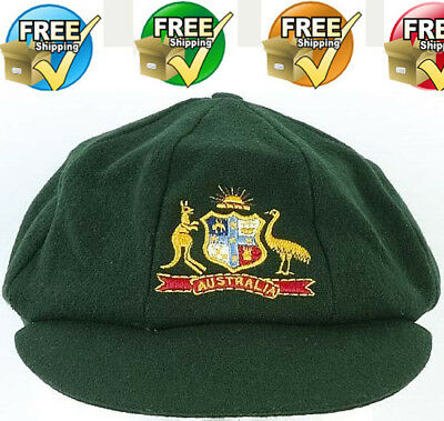 AUSTRALIA TESTCLASSIC MELTON GREEN BAGGY CAP  - For Cricket Bat Lover
