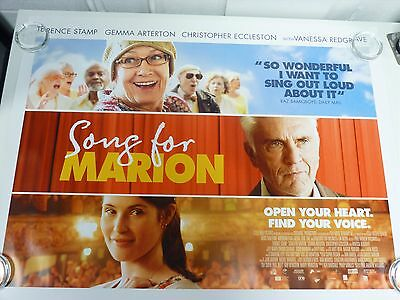Song For Marion (Unfinished song) Arterton Original Movie Poster Quad 76x102cm