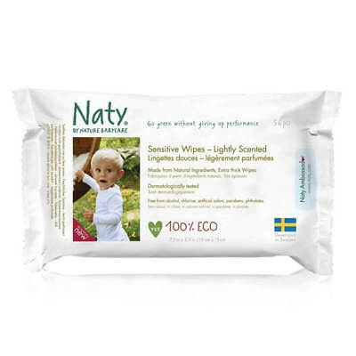 NATY Eco Feuchttücher sensitive duftend bio vegan FSC Baby Wipes Reinigungs