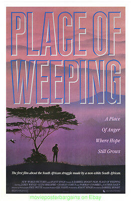 A PLACE OF WEEPING MOVIE POSTER 1986 Original 27x40 Rolled One Sheet