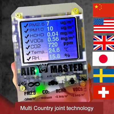 2017 AirMaster2 AM7 master air CO2 laser pm2.5 formaldehyde air quality testing