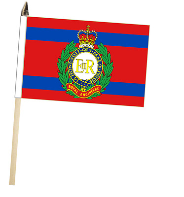 British Army Royal Armoured Corps Large Hand Waving Courtesy Flag