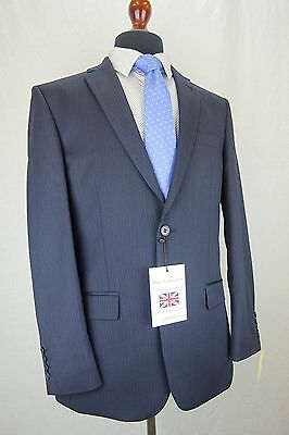 Mens Blake & Currethers Navy Tailored Fit Suit 36 38 40 42 44 46 48 EZ292