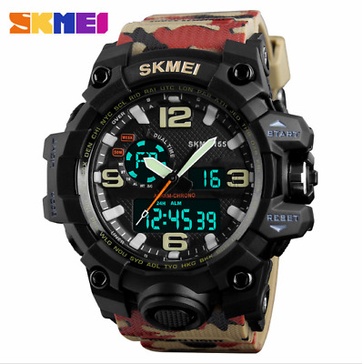 Men's Analog Digital Sports Alarm Army Military Dress Waterproof Wrist Watch