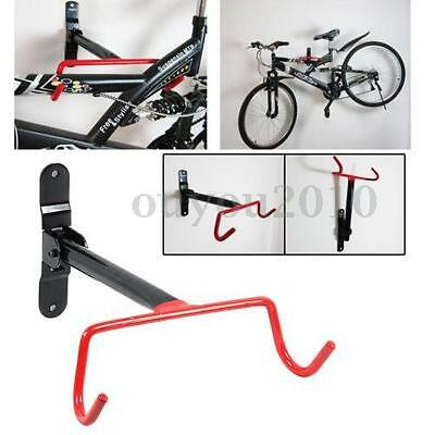 Cycling Bike Storage Garage Wall Mount Hanger Bicycle Steel Holder Hook & Screws