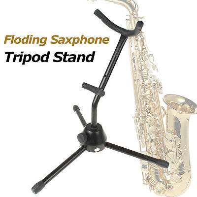Compact Tubular Construction Folding Tripod Saxophone Stand Alto Sax Rack Holder