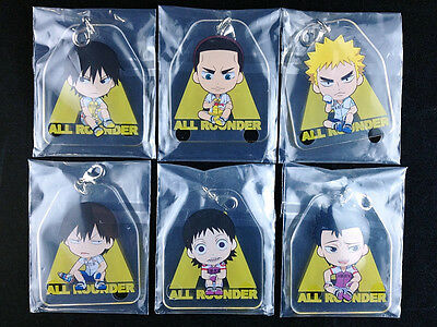 Yowamushi Pedal Grande Road All Rounder Plate Charm Complete set of 6 New