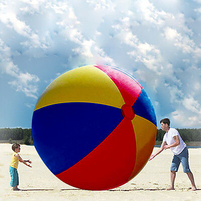 2m Inflatable Large Beach Pool Ball Six Colors Beachball Play Party Toy Ball