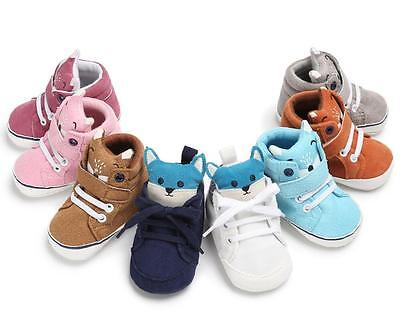 So Cute Newborn Infant Baby Boy Girl Pram Shoes Toddler Soft Sole Trainers 0-18