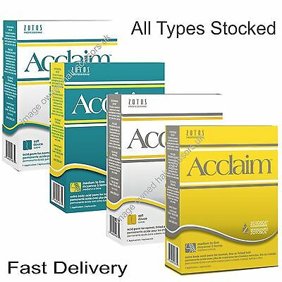 Zotos Acclaim Perm Lotions ALL TYPES STOCKED Soft Firm Regular Plus Extra Body