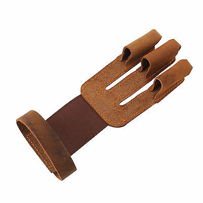 Archery Shooting Hunting Hand Finger Guard Leather Glove