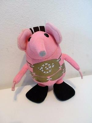 """Retro Kids TV The Clangers Small Plush Whistling Talking Soft Toy Doll 6"""" Tall"""