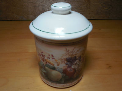 "Certified Intl Pamela Gladding WINDSOR Canister 4 1/8"" Tea w Sealed Lid"