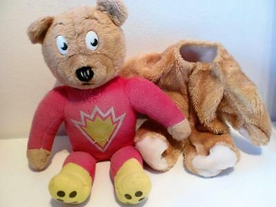 "Rare Vintage Superted Transforming Bear Suit Plush Soft Toy Doll 15"" 1980s"