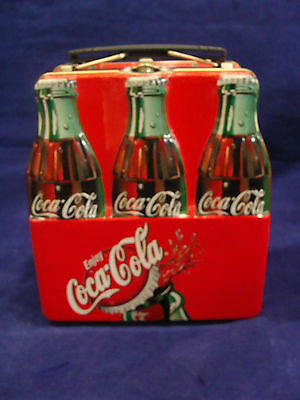 Tin Coca-Cola Bottle Lunch Box Style Container Storage Box