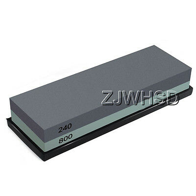 240 / 800 Double-Sided Sharpening Stone Waterstone Grindstone with Rubber Stand