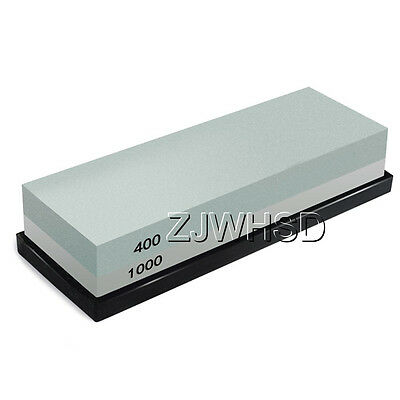 400 / 1000 Double-Sided Sharpening Stone Waterstone Grindstone with Rubber Stand