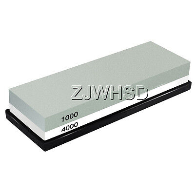 1000/4000 Double-Sided Sharpening Stone Waterstone Grindstone with Rubber Stand